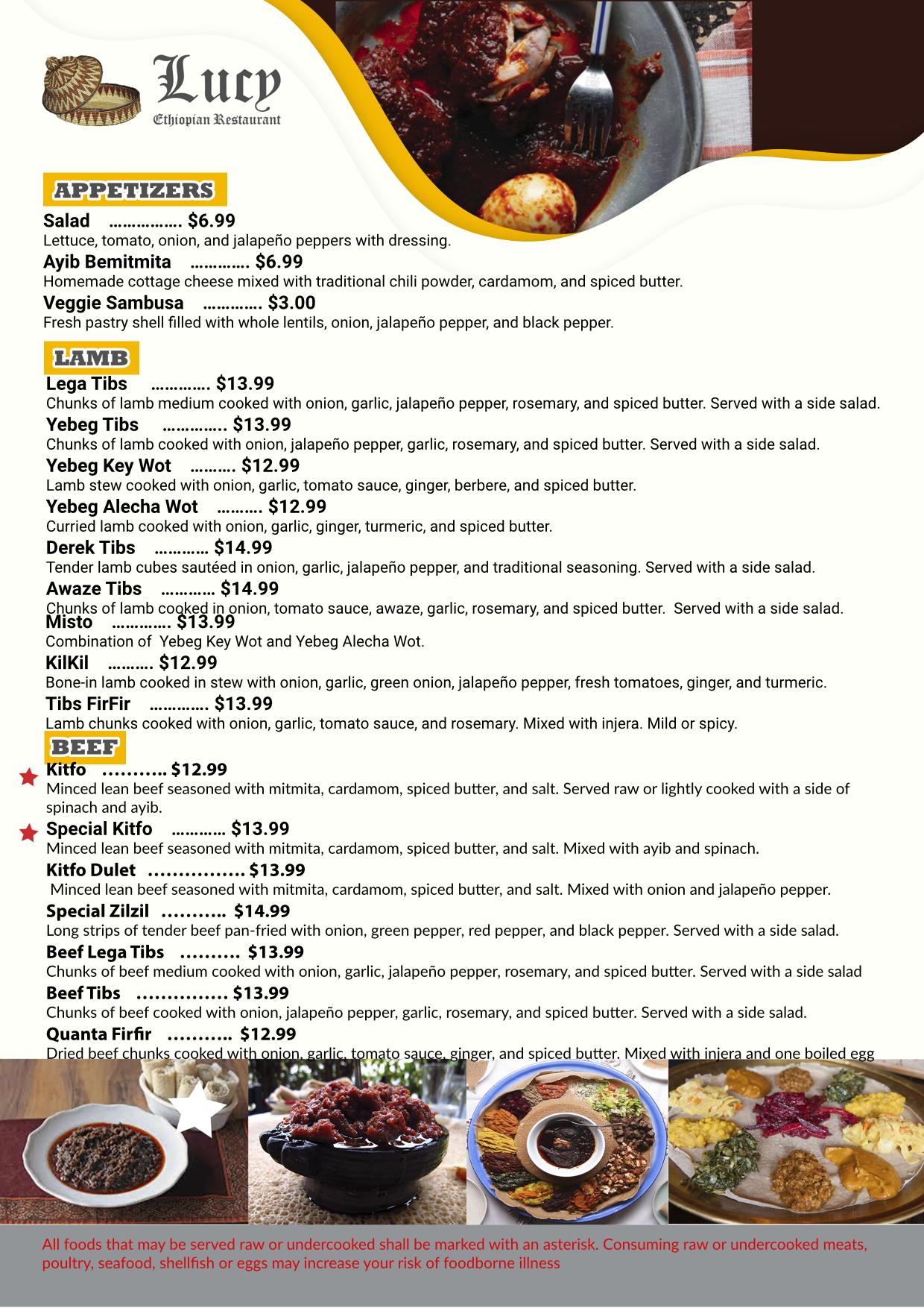 food menu design service